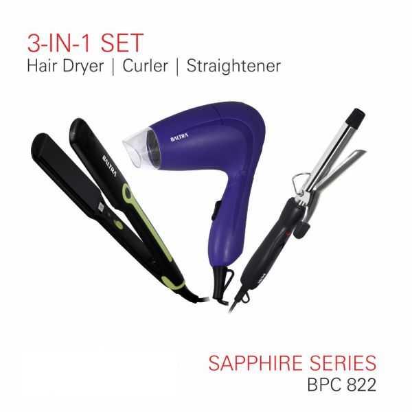 SAPPHIRE SERIES Hair Dryer Curler Straightener