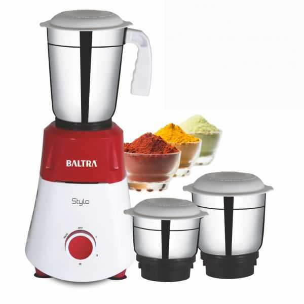 STYLO 3 Mixer Grinder with  3 Stainless Steel Jars and 550W Motor