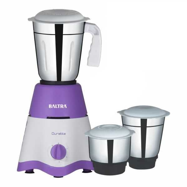 DURABLE 3 Mixer Grinder with 3 Stainless Steel Jars and 500W Motor